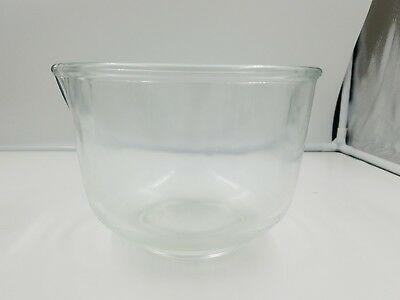 """Vintage 6 1/2"""" Fire King for Sunbeam Mixing Bowl Clear Glass for SUNBEAM USA"""