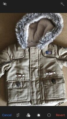 Baby Boys Winter Coat 0-3 Months New Parker Excellent Condition