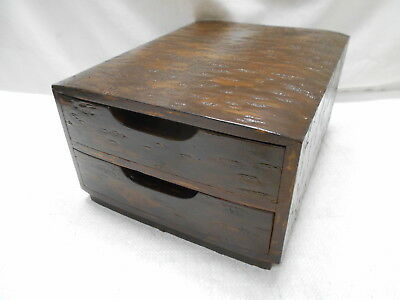 Vintage Cherry Wood Dresser Jewellery Box Japanese Drawers Circa 1960s #806