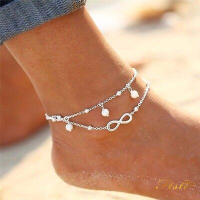 Fashion Ankle Women 925 Sterling Silver Anklet Foot Jewelry Chain Beach AU