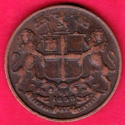 British India - 1858 - East India Company - One Quarter Anna - Rare Coin #q32