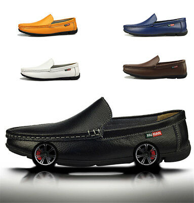 Men Casual Genuine Leather Moccasins Loafers Driving Work Business Slip On Shoes