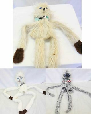 3 long limb furry hand puppets c1970S sloths #15250