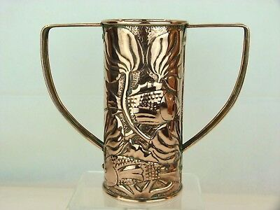 A Large Twin Handled Copper Vase by John Williams of The Guild of Handicrafts.