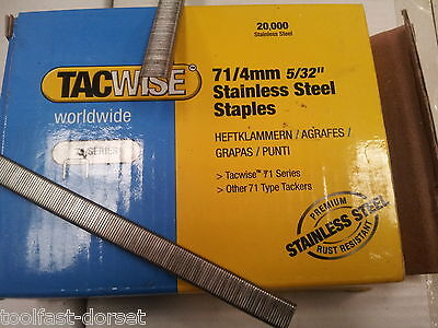 71/72 Series Upholstery Staples, Stainless Steel 4, 6 & 10mm. 10 Boxes (200,000)