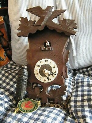 Cuckoo Clock For Spares Or Repairs Black Forest