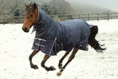 Rhinegold NAVY BLUE Aspen 1000d 350gsm Heavyweight Combination Horse Turnout Rug