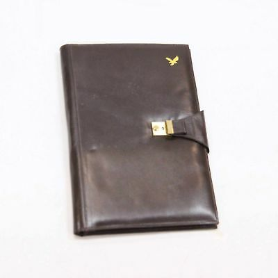 Brown Leather Folder Document Holder #319