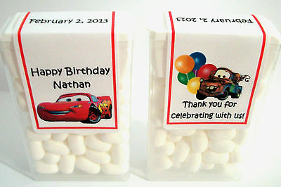 14 Disney Cars Birthday Party Favors Tic Tac Labels ~ Personalized
