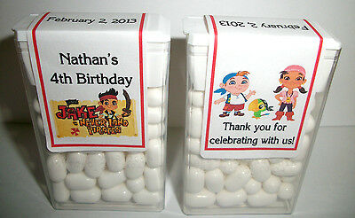 14 Jake & The Neverland Pirates Birthday Favors Tic Tac Labels ~ Personalized