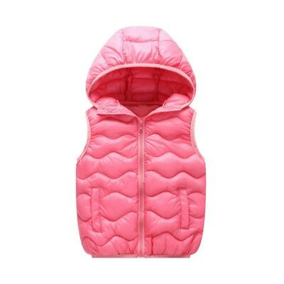 Kids Children Puffer Waistcoat Light Weight Hooded Padded Quilted Outerwear Coat
