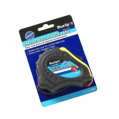 5m Easy Read Magnetic Tape With Auto Lock - Bluespot 5m16ft Tools Bs33004