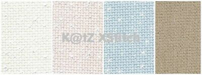 DMC IRIDESCENT AIDA CROSS STITCH FABRIC - 14ct, Various Colours, Various Sizes*