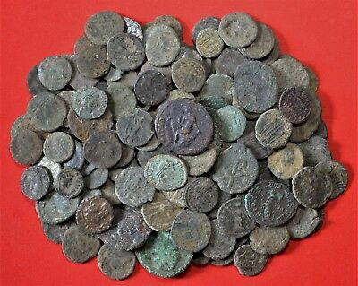 Quality Lot Of 172 Roman Bronze Coins: Unresearched U.k Metal Detecting Finds!