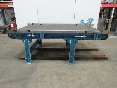 "Milnor Convey 48 96""L x 48"" W Powered Slide Bed Belt Conveyor 37FPM 208-230/460V"