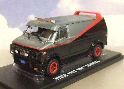 "1/43 Greenlight Diecast 1983 Gmc Vandura Van ""The A-Team"" Tv Series Black & Grey"