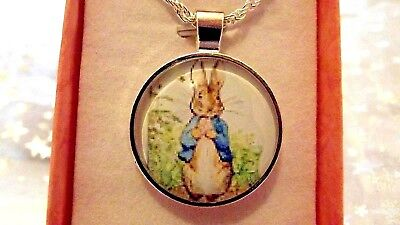 Peter Rabbit Photo Beatrix Potter  Necklace 18 Inch  Gift Box Birthday Party