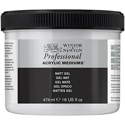 Winsor & Newton 3050915 Professional Acrylic Medium Matt Gel, 474ml - Gel