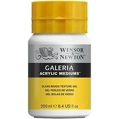 Winsor & Newton 3040813 Galeria Acrylic Medium Glass Beads Texture Gel, 250ml -