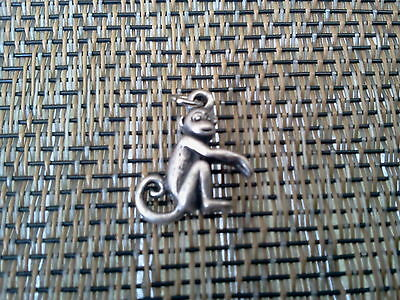 African Zoo Animal 2 Monkeys Three Dimensional Pewter Charms All New.