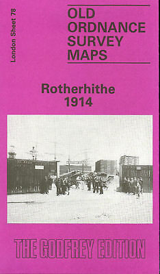 Old Ordnance Survey Map Rotherhithe 1914