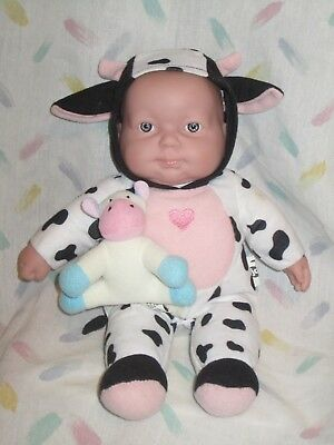 """Jc Toy Berenguer Baby Doll in a Cow Costume - 10"""""""