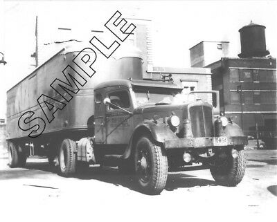 MID-STATES, OH - 1934 FEDERAL TRACTOR/TRAILER, Still Hauling 1948 8x10 B&W Photo