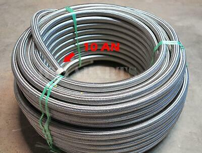 20ft 20 Feet 10 AN -10AN Stainless Steel Braided Fuel /Oil/ Gas Line Hose 1k PSI