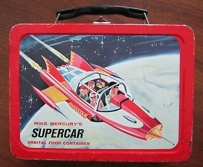 """MIKE MERCURY'S """"SUPERCAR"""" <> 1962 Metal Lunchbox <> w/THERMOS!!"""