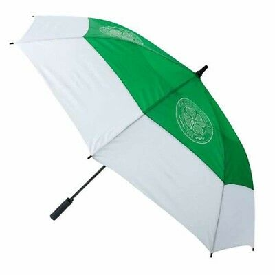 Celtic Football Club Green & White Double Canopy Golf Umbrella Free UK P&P