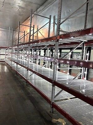 Ridg-U-Rak Slotted Commercial Pallet Racking Uprights Crossbeams Grids 144""