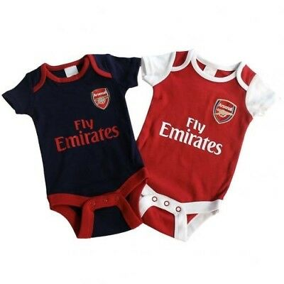 Arsenal Football Club Crest Baby Bodysuit NR 2-pack Size 9-12 months
