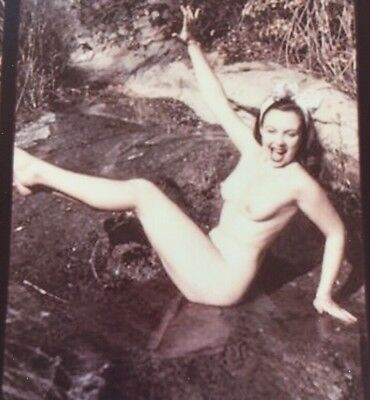 NUDE MARILYN MONROE NORMA JEAN BAKER Stereoview Card Photo