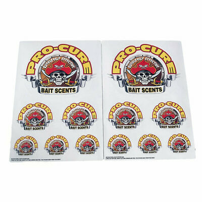 Pro Cure Team Pro Cure Sticker Pack - 12 Assorted Fishing Stickers - Boat Decals