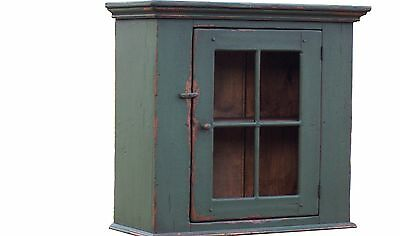 Primitive Farmhouse Wall Cupboard Painted Country Cabinet Early American Rustic