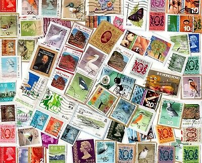 A LOVELY SELECTION OF KILOWARE STAMPS FROM HONG KONG WITH HVs