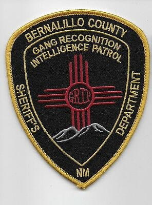 Bernalillo County sheriff Gang Intel Patch GRIP State New Mexico NM Police