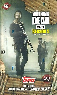 The Walking Dead Season 5 / Trading Cards / ONE (1) Factory Sealed Hobby Box