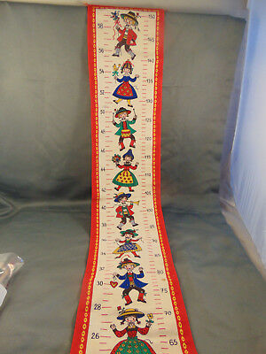 Childs Grow Chart Banner inches & centimeters colorful cloth 24-58 in 60-15 cent