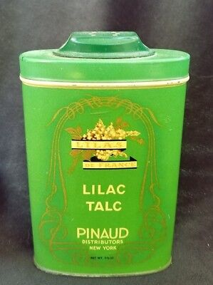 Old Advertising Talcum Powder Tin Lilac Talc Pinaud New York Lila's De France