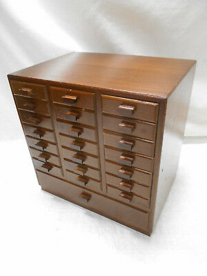 Vintage Wooden Sewing Box Japanese Drawers C1970s #808
