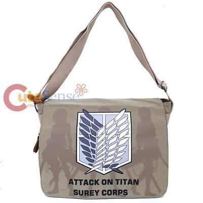 Attack on Titan Messenger Bag Anime Laptop Carry Shoulder Cross Bag Canvas