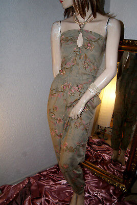 Jumpsuit * Overall taupe geblümt H&M Party Strand Sommer Viscose nw 42