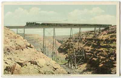Train California Limited Crossing Canyon Diablo AZ Arizona Fred Harvey 1910s