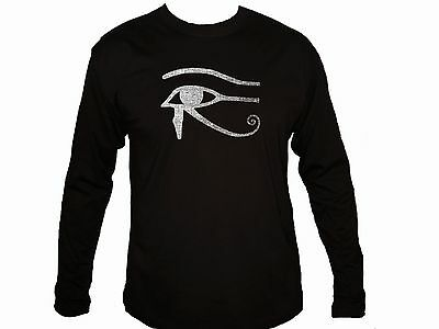 Ancient Egyptian symbols Wadjet Udjat Eye of Ra Horus sleeved distressed t-shirt