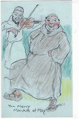 Hand Drawn Postcard By H.w. Whanslaw - The Merry Monkth Of May -