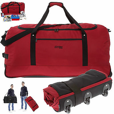 Trolley SOUTHWEST LIGHT WEIGHT XXL 80 cm faltbar Bag Trolly Rollreisetasche ROT