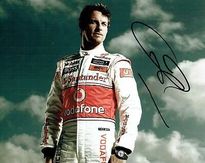 Jenson Button SIGNED Autograph 10x8 Portrait Photo AFTAL COA F1 Driver