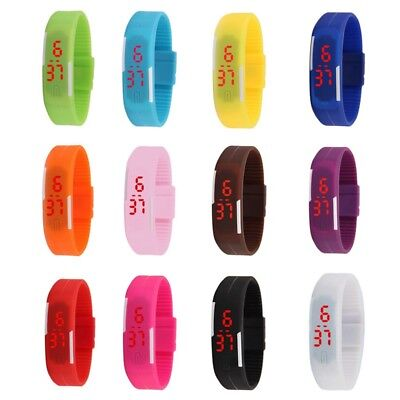Fashion LED Touch Screen Sport Watch Silicone Band Wristwatch Bracelets Unisex