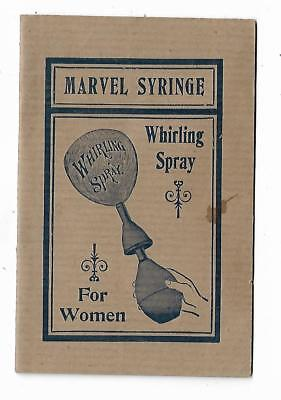 1901 AD Booklet Marvel Syringe Vaginal Spray For Women Marvel Co New York